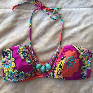 Victoria's Secret Multicolored Beaded Bikini Top